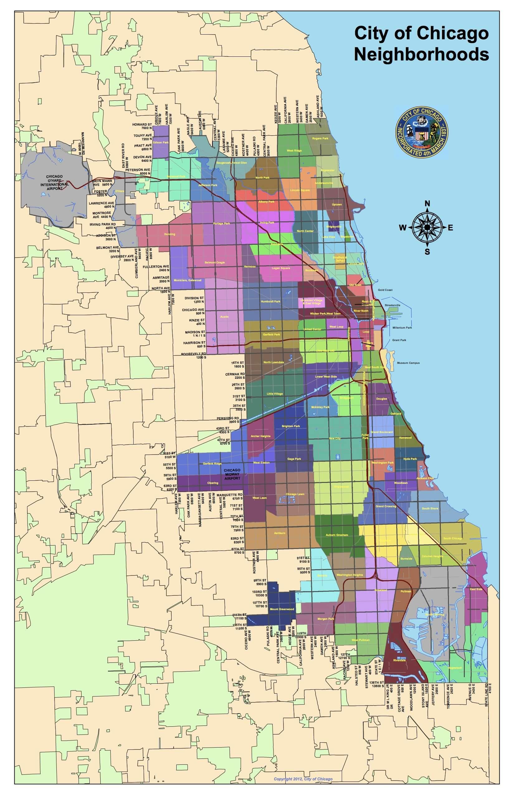 Map of Chicago neighborhoods