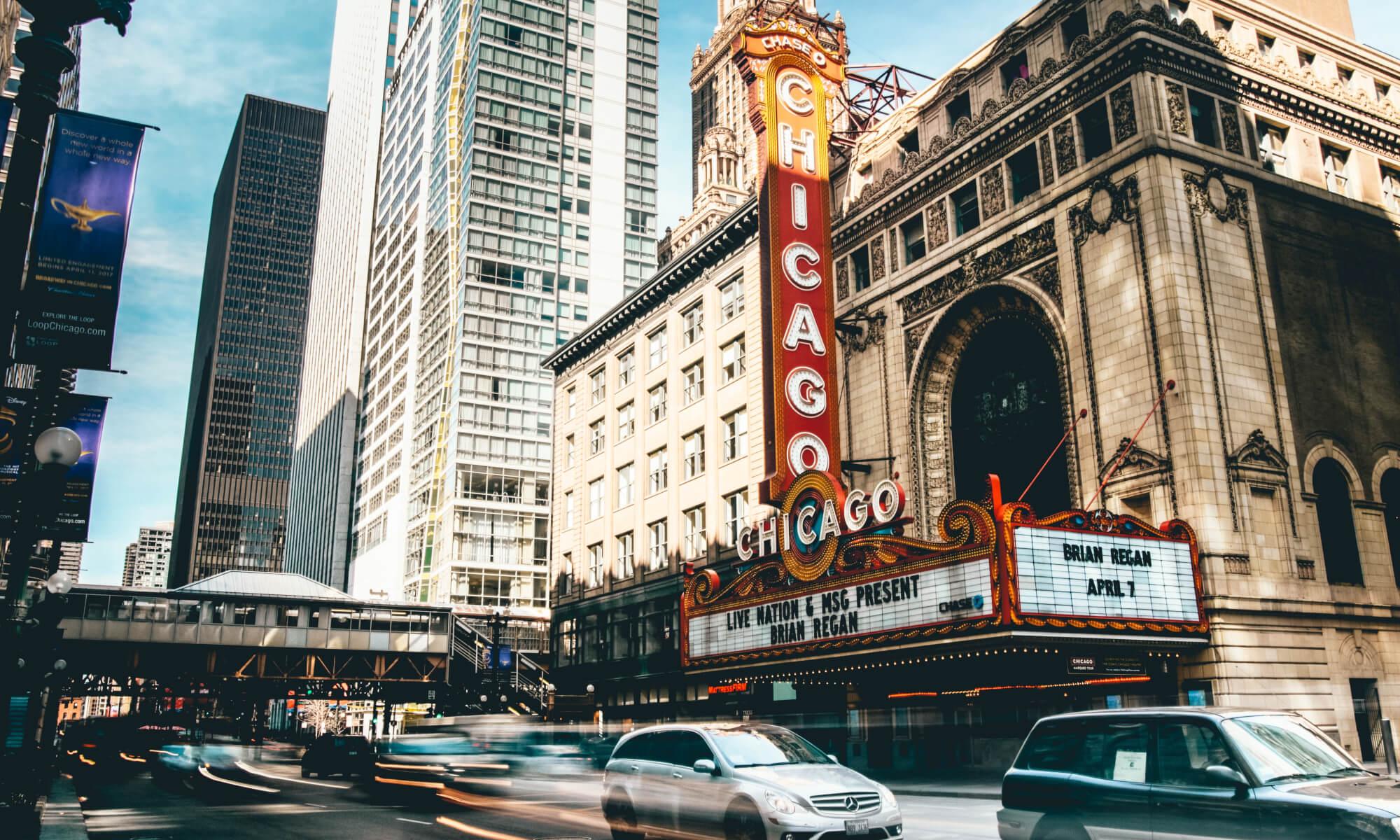 Buildings in The Loop in downtown Chicago