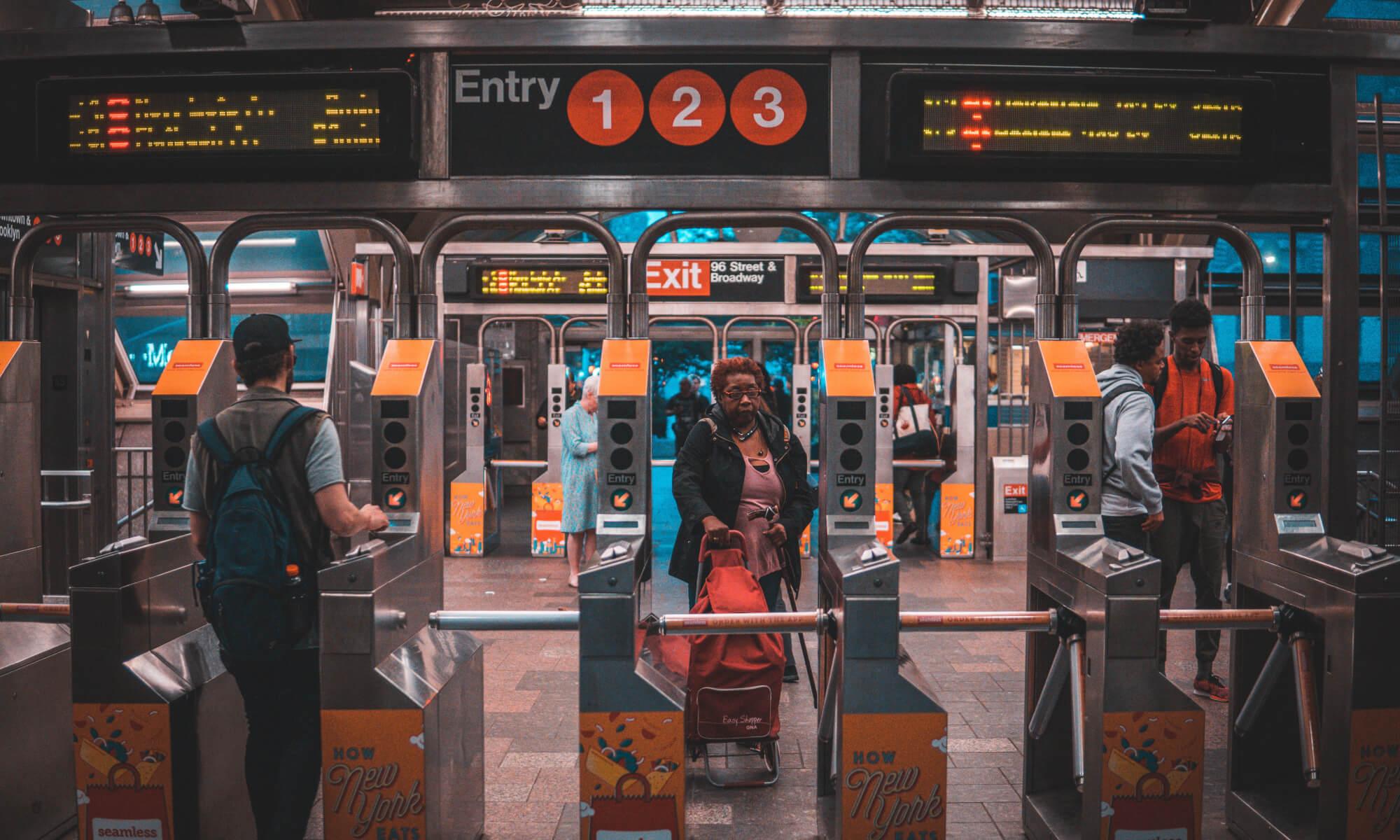 Subway station in Brooklyn