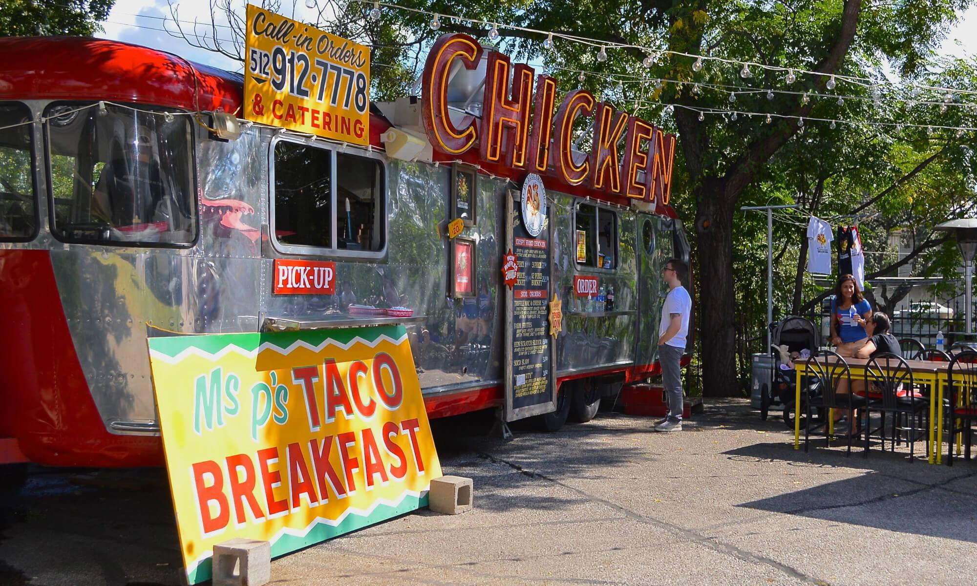 Taco truck in Austin