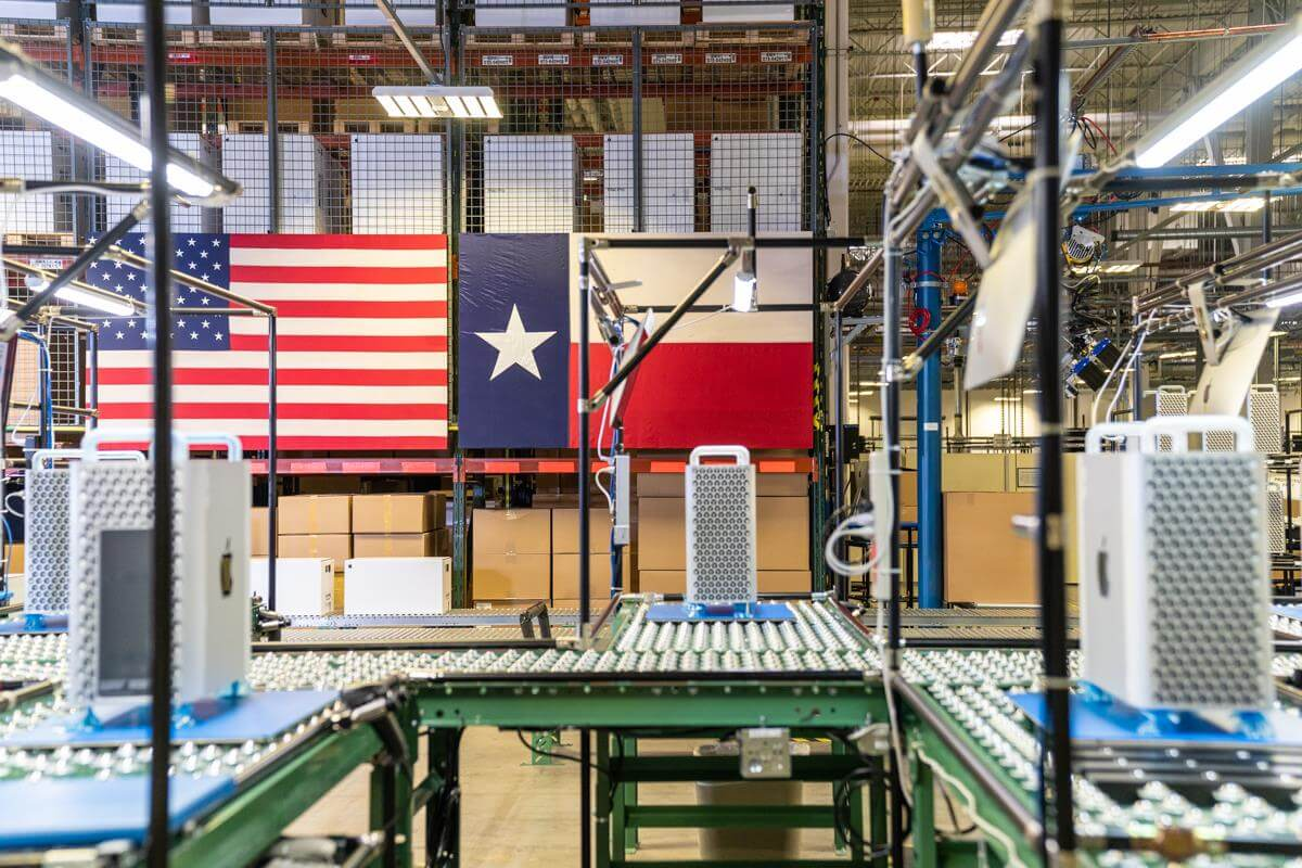 Apple manufacturing plant in Austin