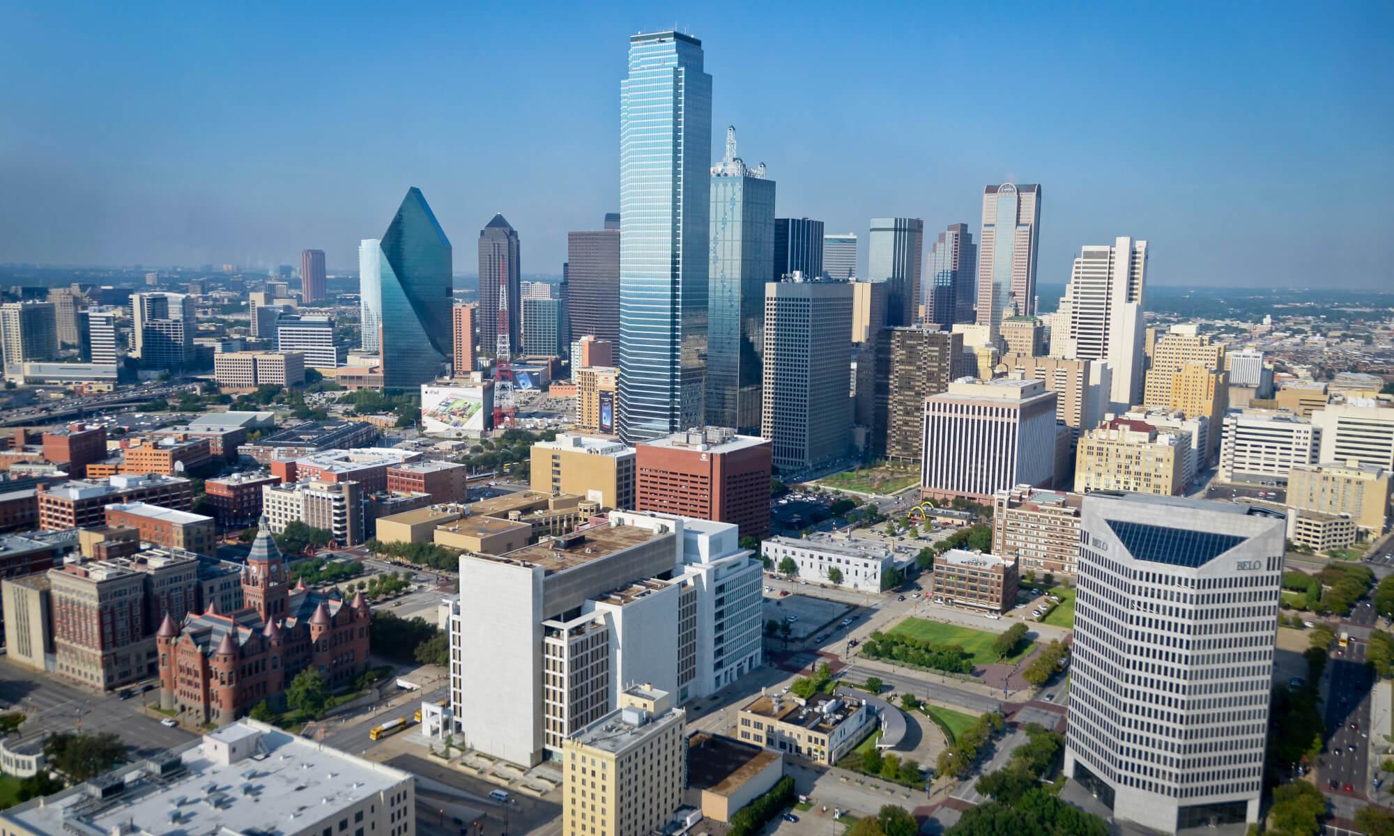 cityscape of dallas, texas