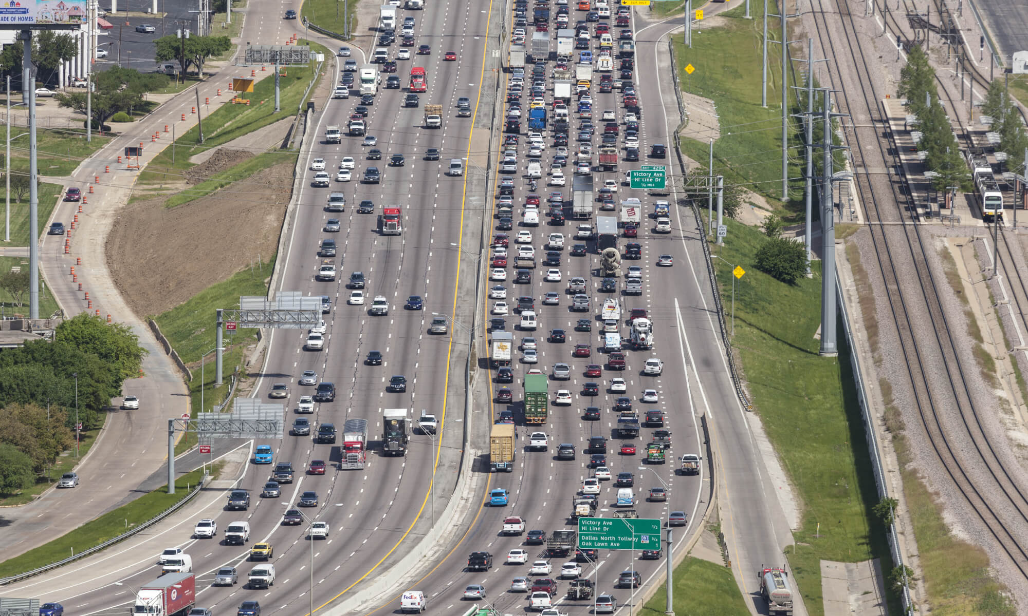 traffic jam in dallas, texas