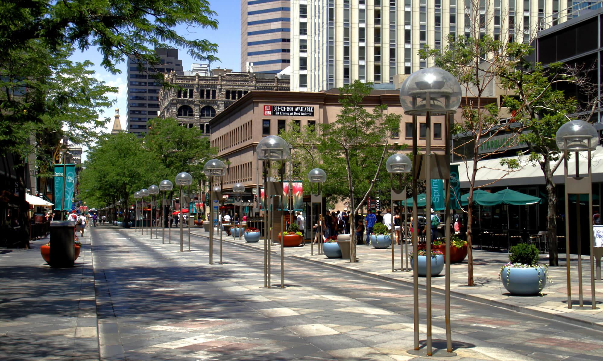 16th street mall in Denver, Colorado