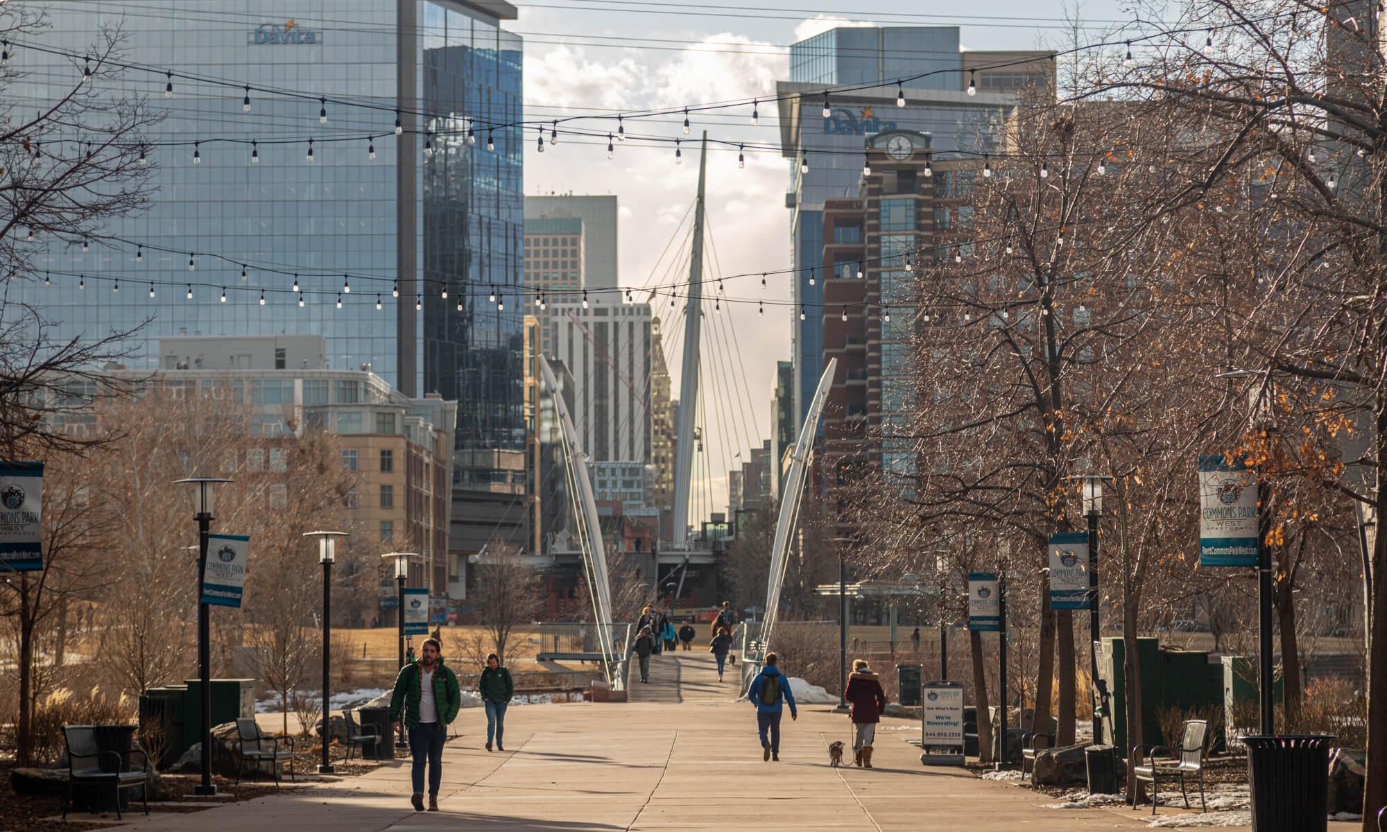 Downtown streets of Denver, Colorado