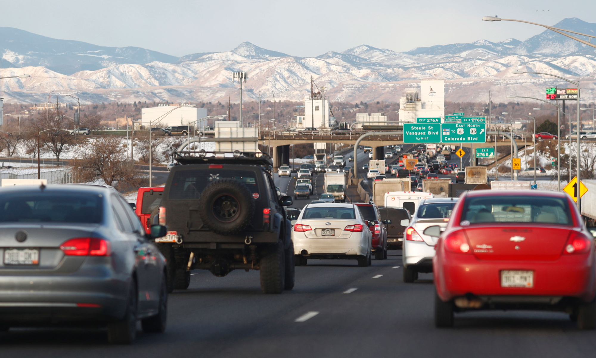 Traffic jam in Denver, Colorado