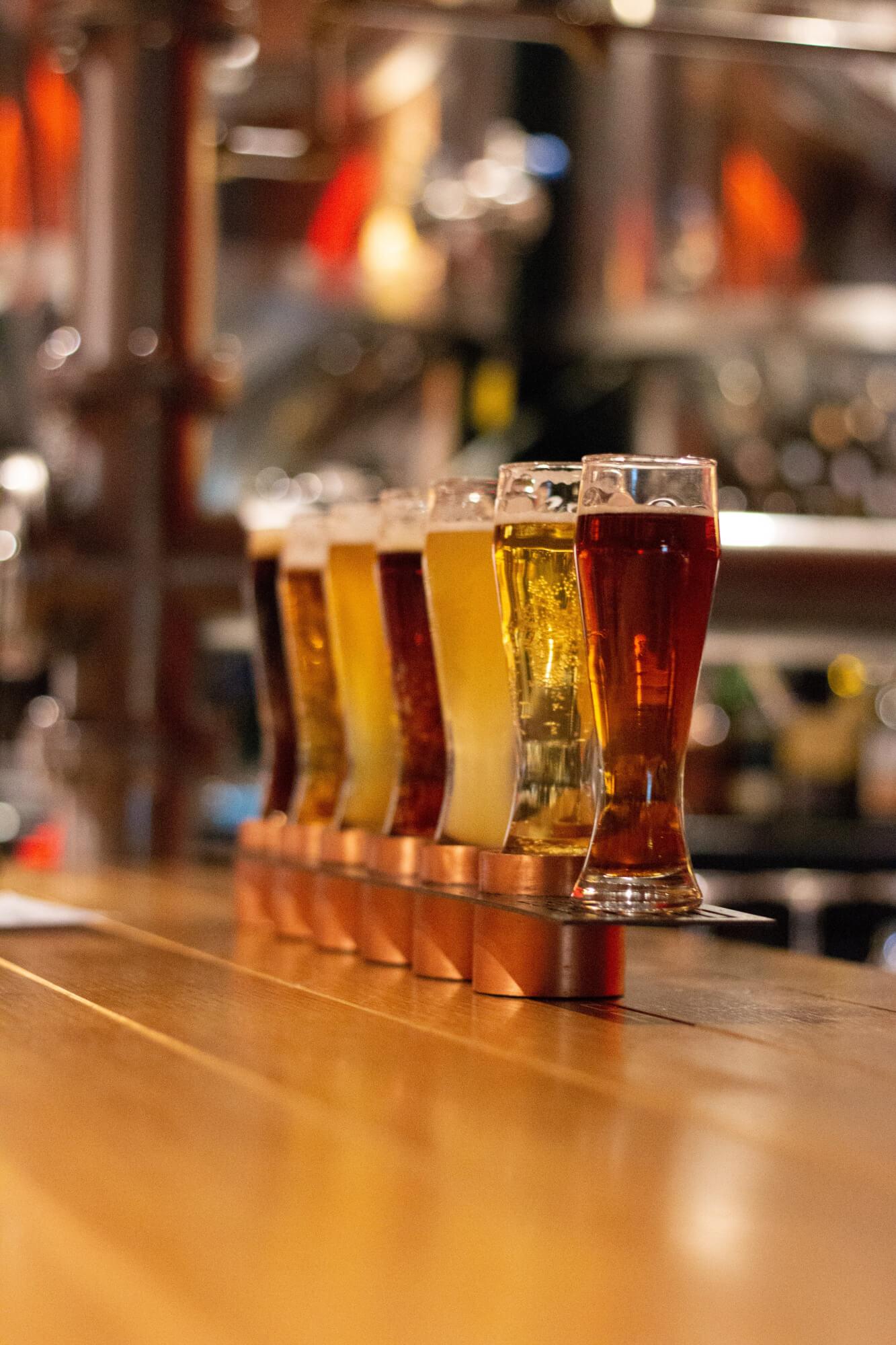 Beer in a bar in Denver, Colorado