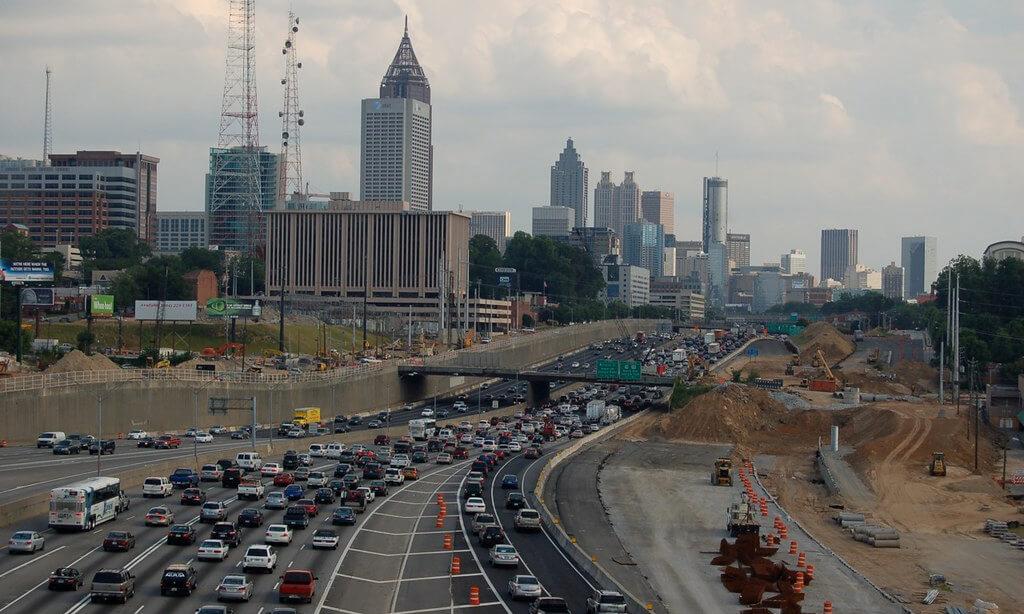 traffic in Atlanta, Georgia