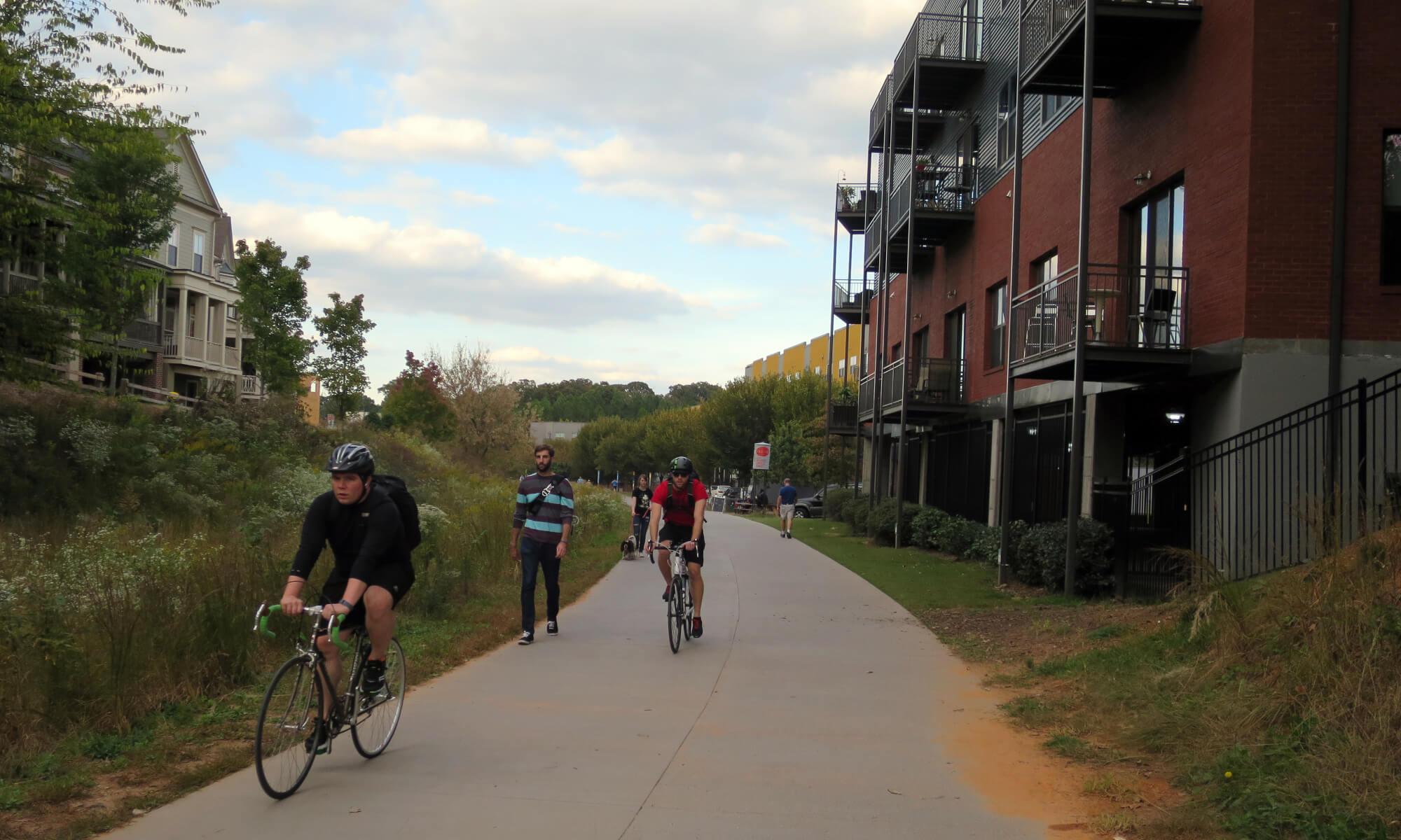 Cyclists in Atlanta, Georgia