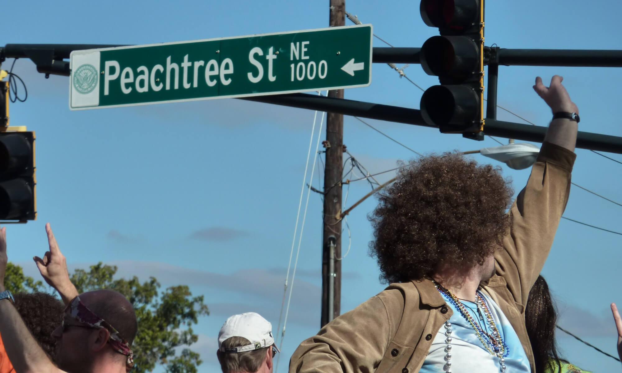 Peachtree street in Atlanta, Georgia