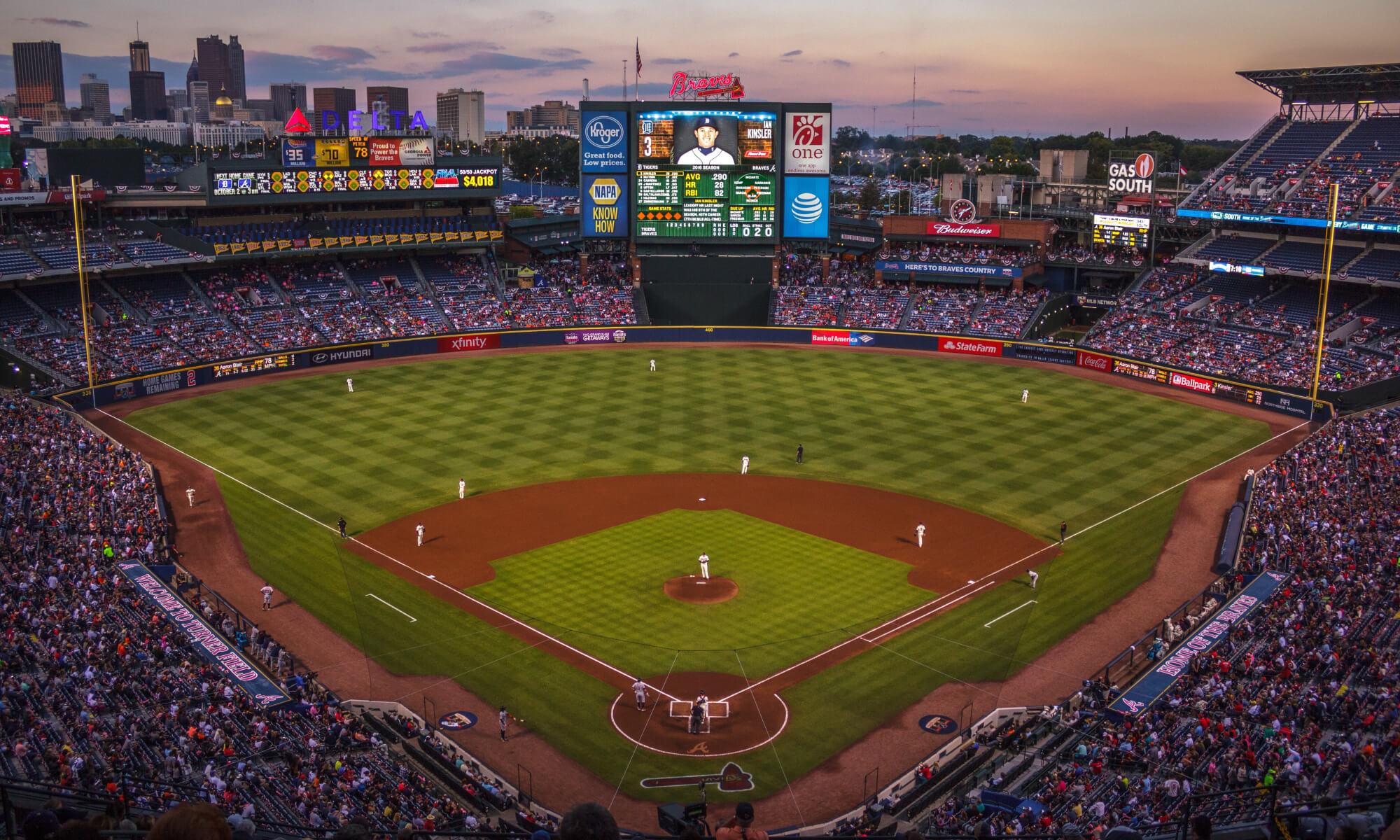 Baseball game in Atlanta, Georgia
