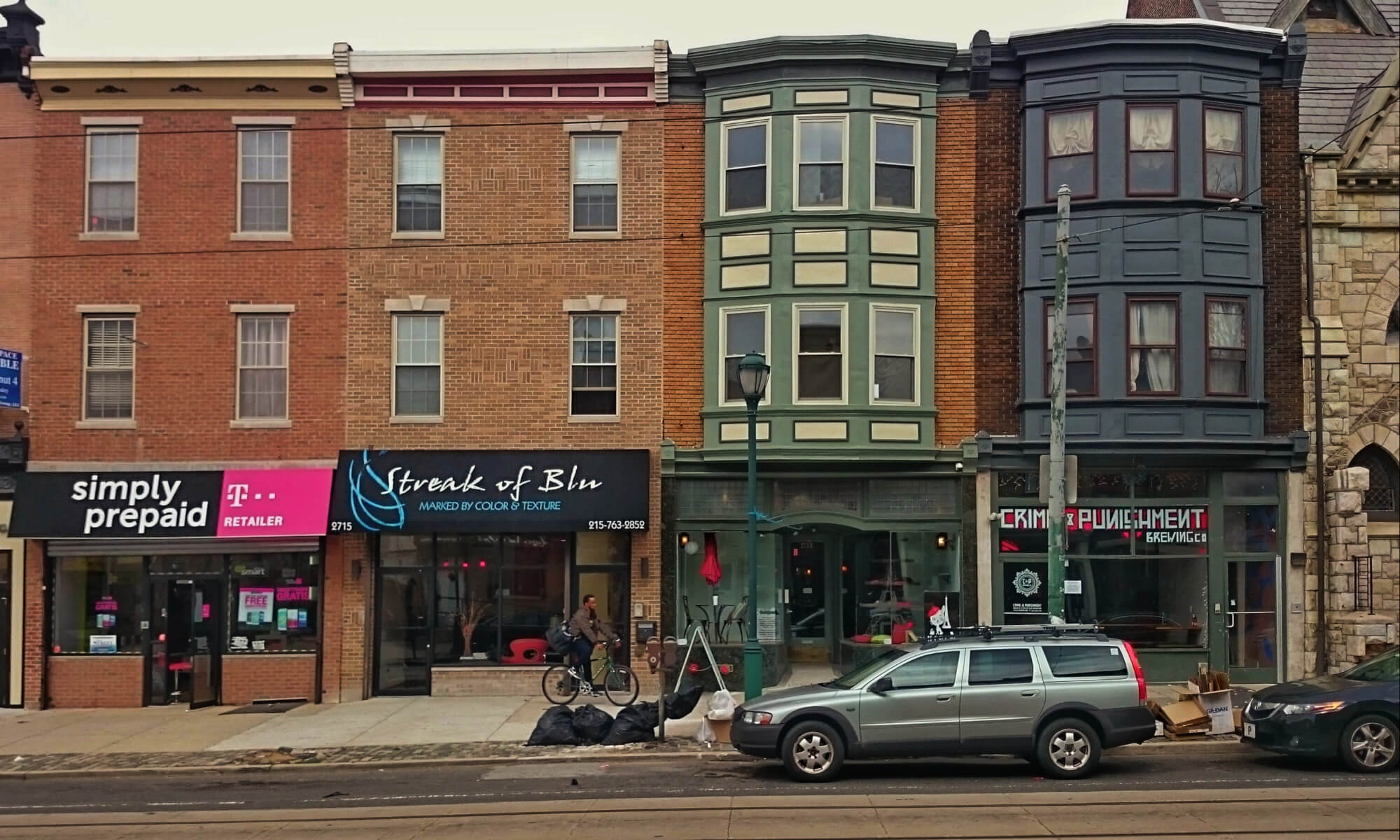 Line of stores in Brewerytown, Philadelphia