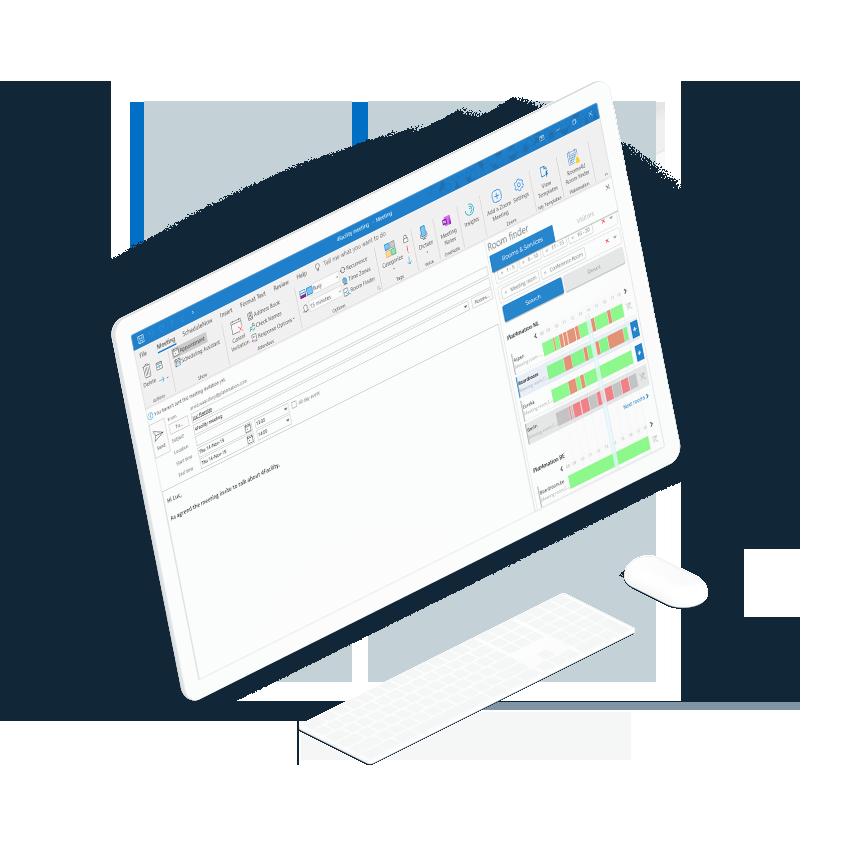 Planning screen laptop interface