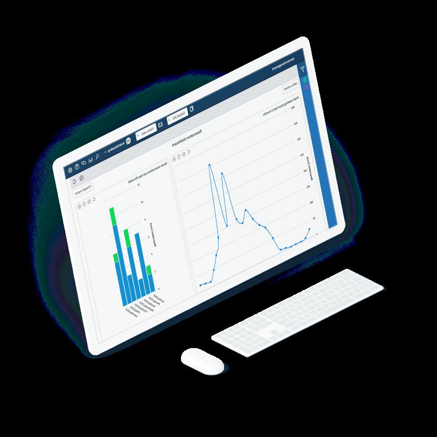 Analytics screen laptop interface
