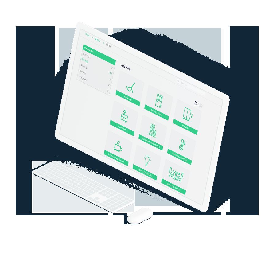 Asset management screen laptop interface