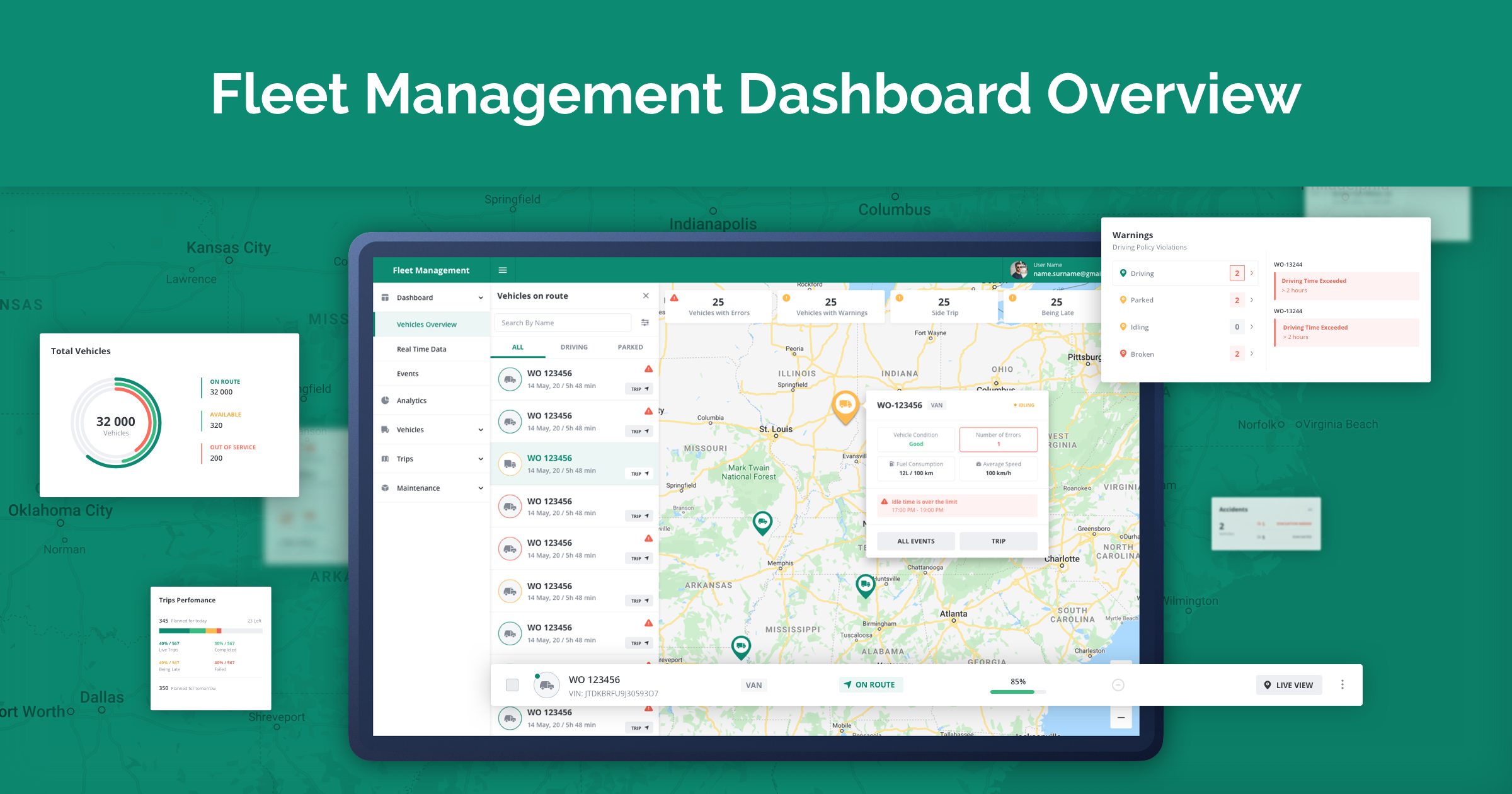 Fleet Management Dashboard on Angular
