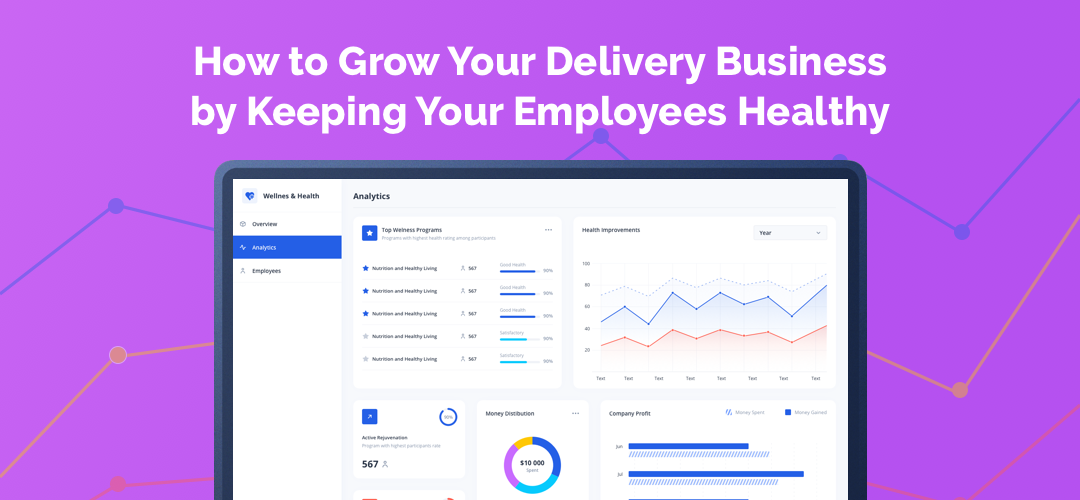 How to grow your delivery business by implementing health tracking system