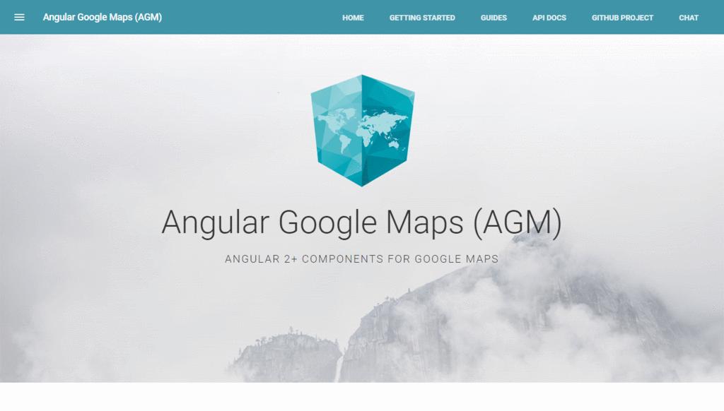 Angular Google Maps (AGM)