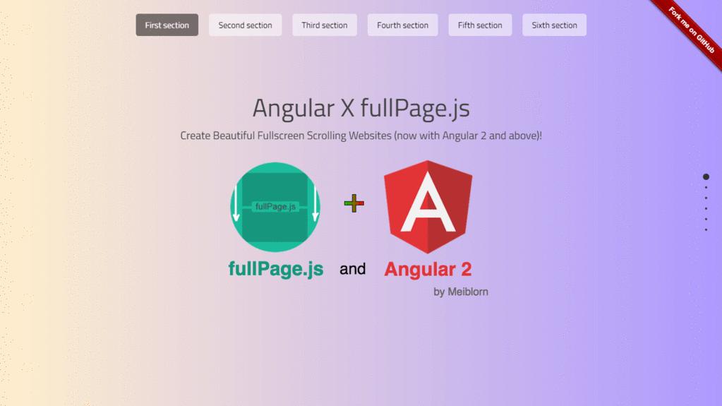 Angular X fullPage.js