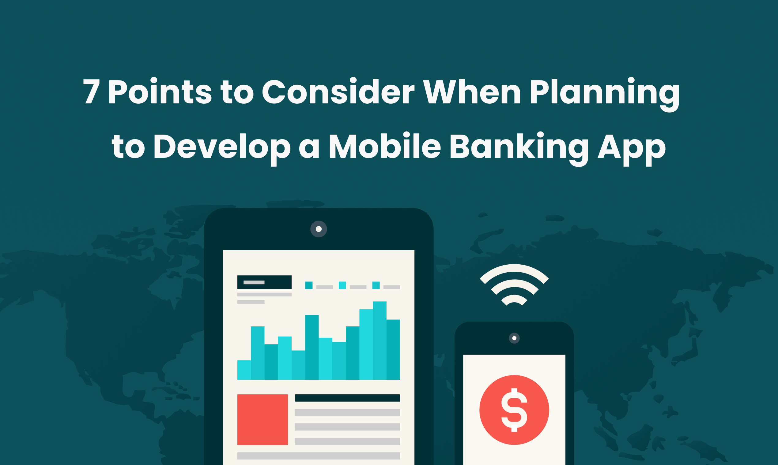 Crucial points in mobile banking app development.