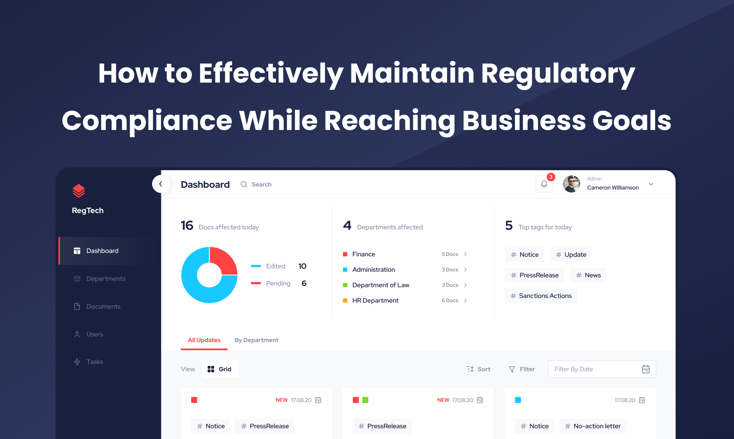 How to effectively maintain regulatory compliance while reaching business goals