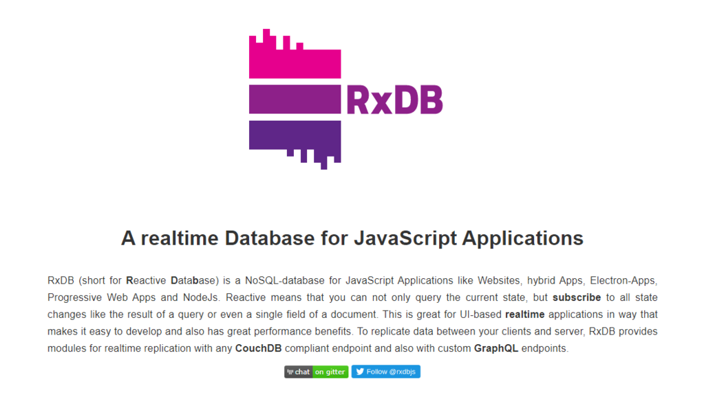 A real-time Database for JavaScript Applications