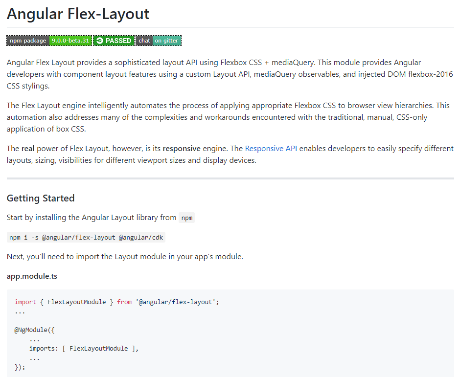 Angular Flex-Layout