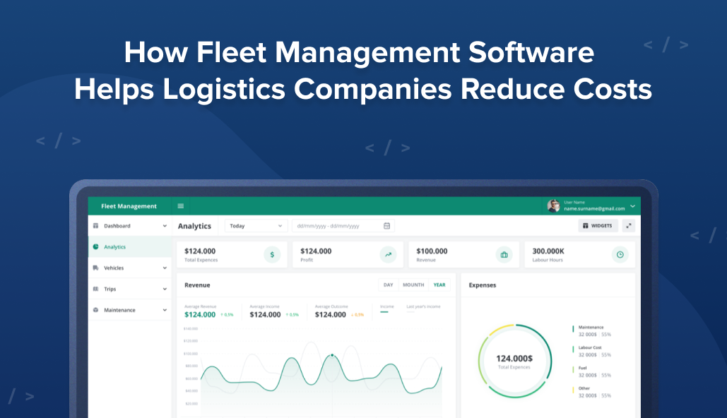 Reducing costs with fleet management software