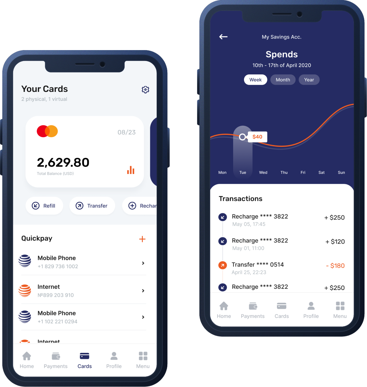 iOS and Android mobile banking app