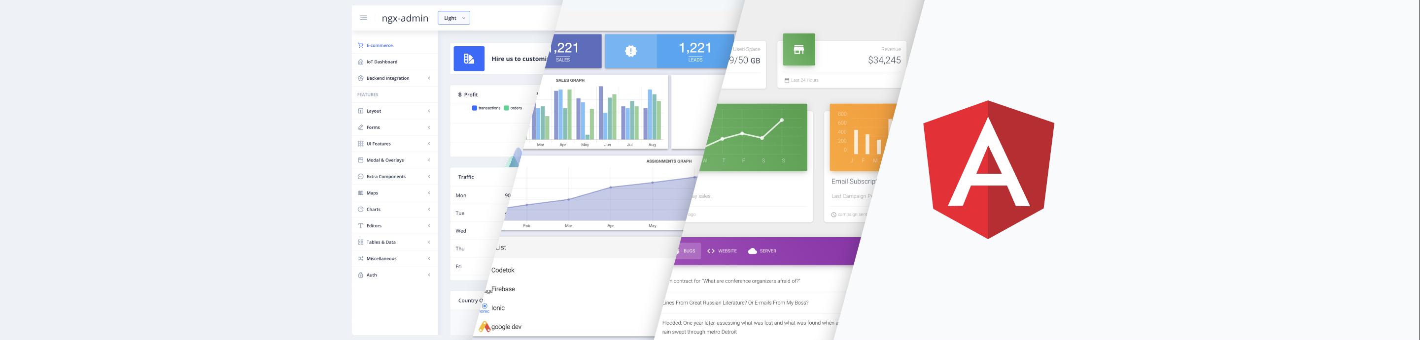 Top 19 Free Angular Admin Dashboard Templates in 2021