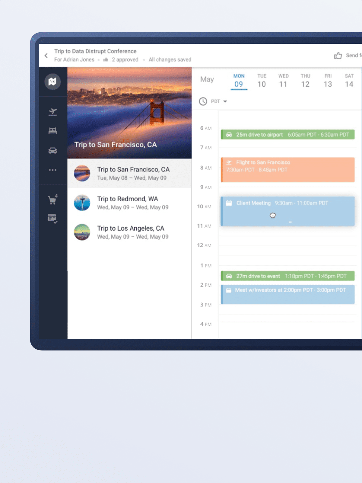 Client interface front-end development for TRAVO