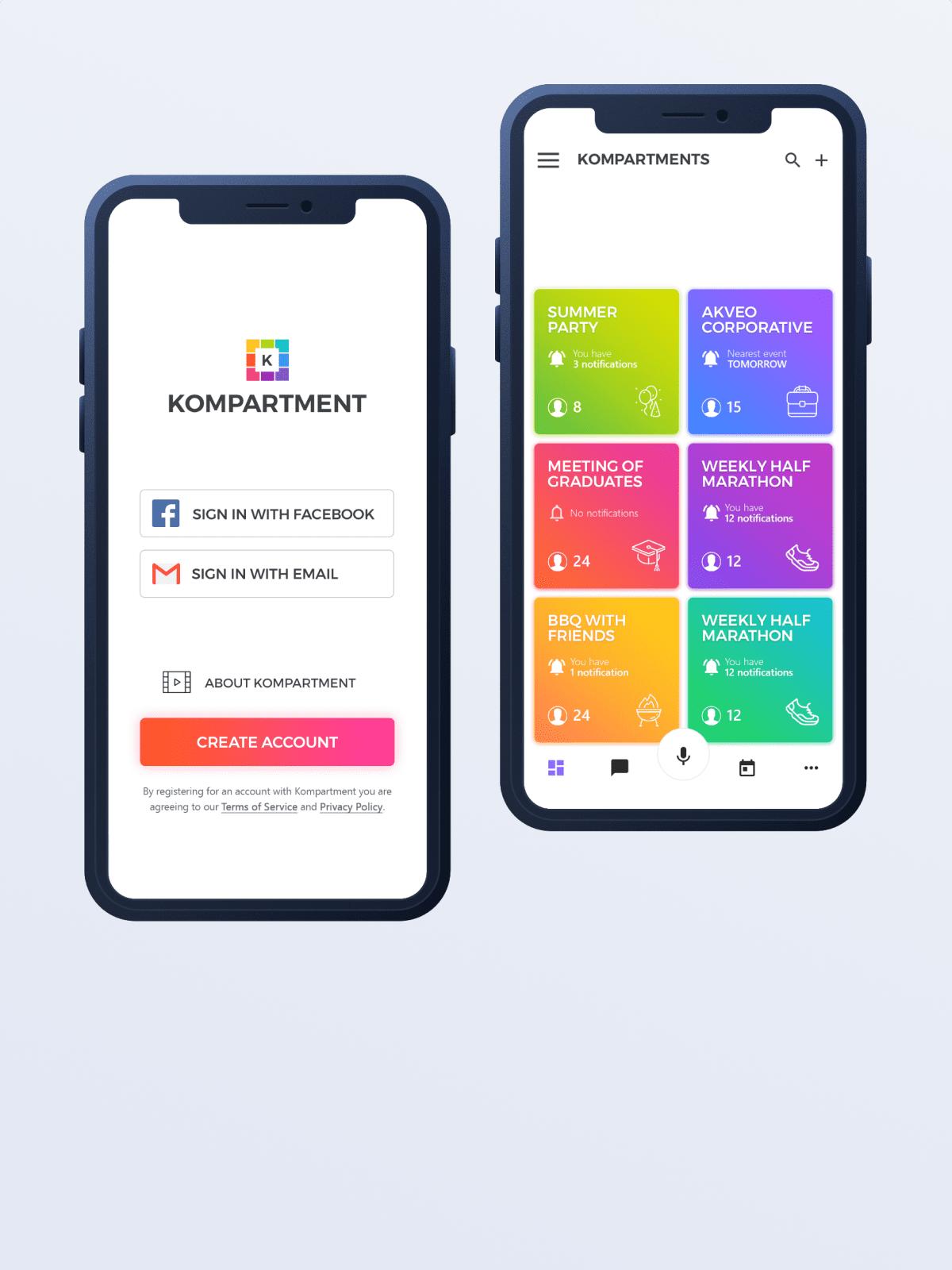 Mobile application development and design