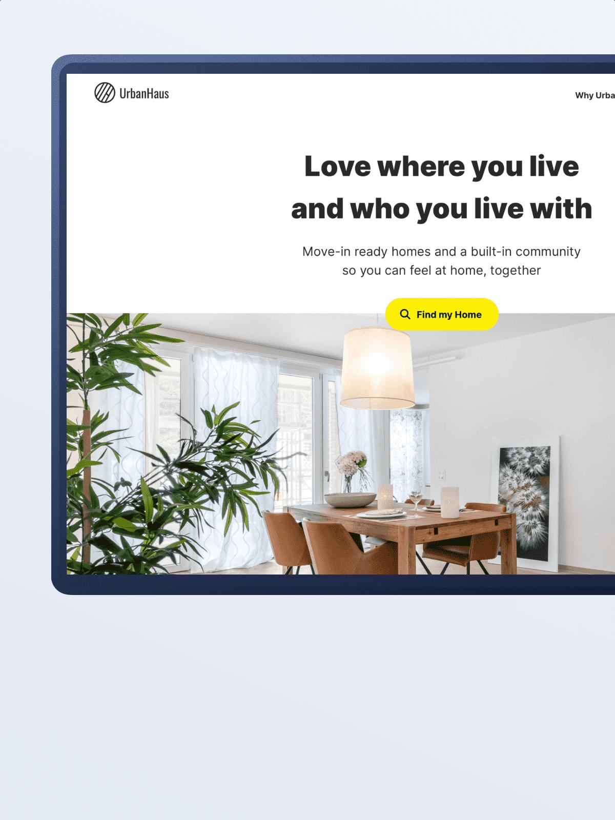 Branding for co-living service