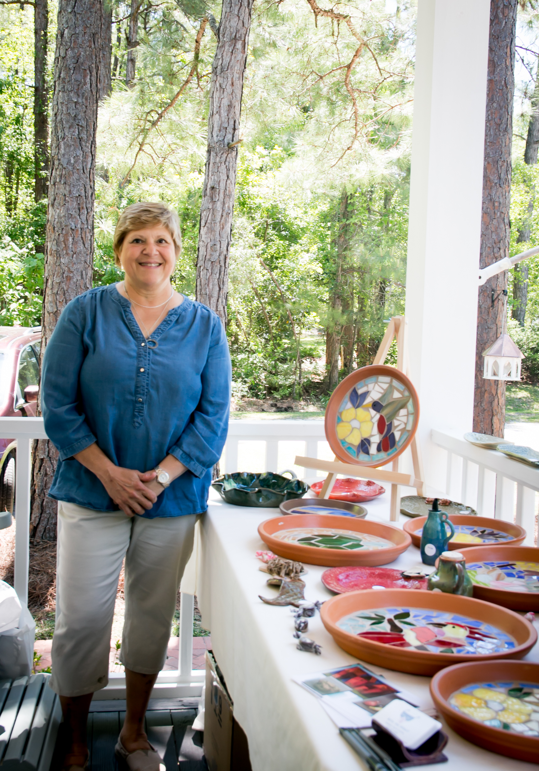 Woodsong Porch and Art Stroll