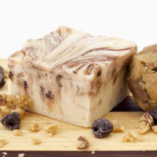 Delightful fudge with real chunks of chocolate chip cookie dough added. Reminds you of the days when you ate cookie dough right out of the bowl!