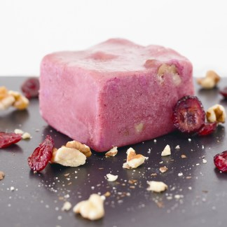 California grown English Walnuts add a crunch to our already delicious cranberry fudge. Made with Alaskan cranberries!