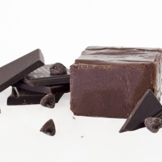 Dark chocolate liquor pieces create a yummy and rich dark chocolate fudge.