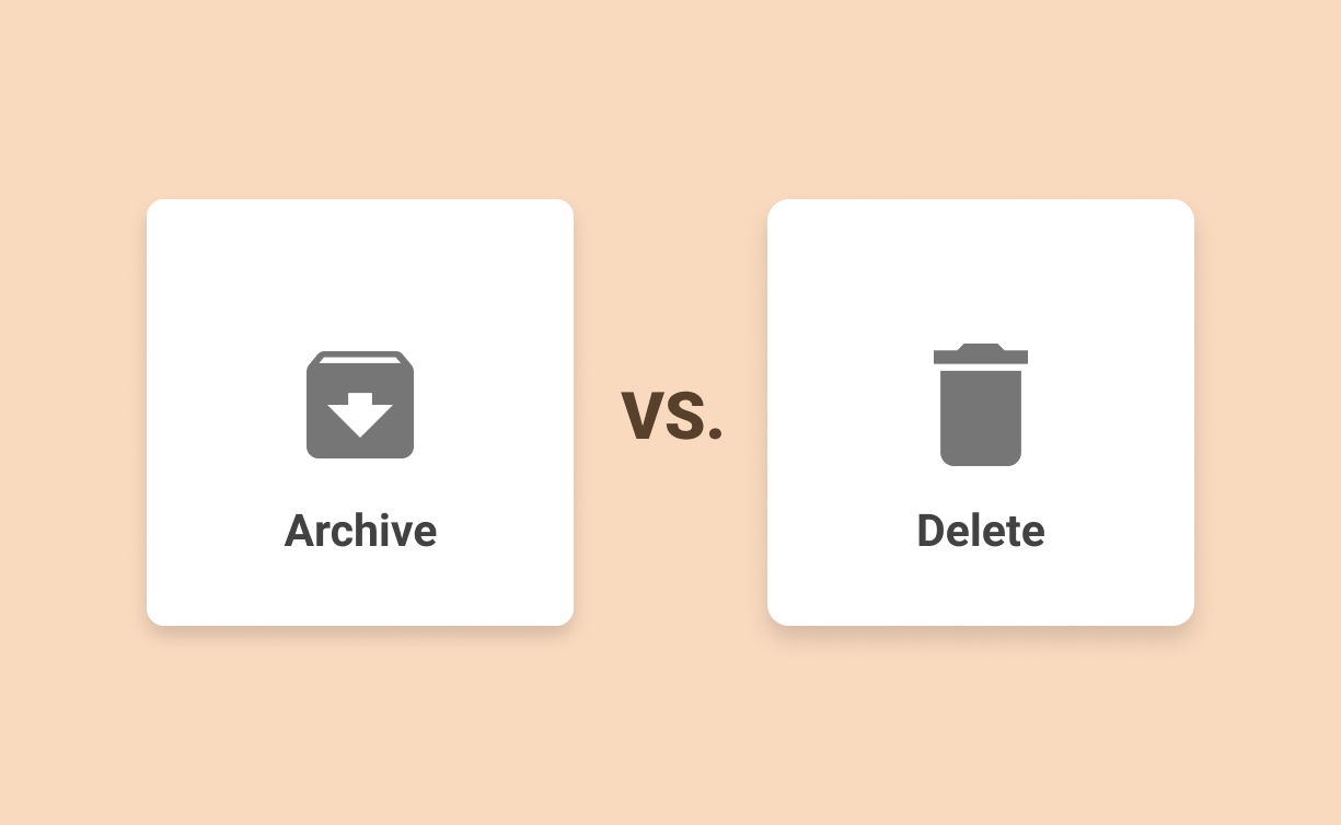 Archive vs. delete in Gmail