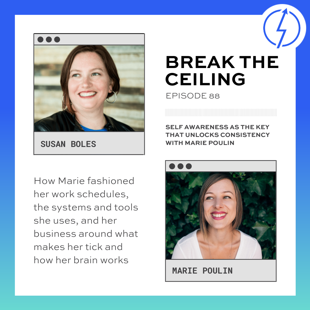 """""""How Marie fashioned her work schedules, the systems and tools she uses, and her business around what makes her tick and how her brain works."""