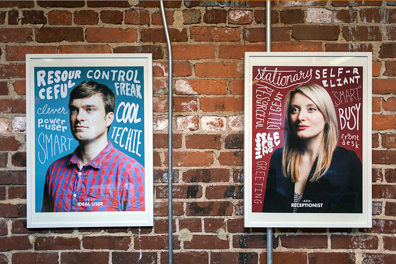 MailChimp personas user research posters
