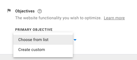 Google Optimize list of accounts