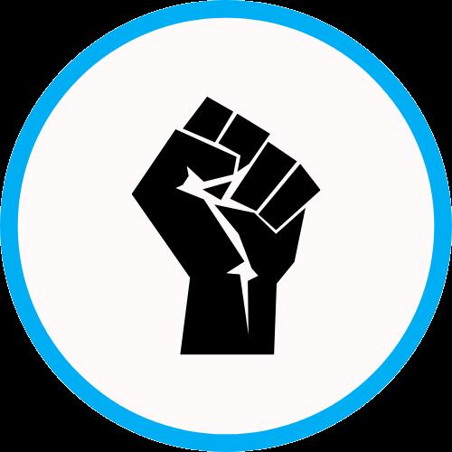Justice movement fist icon