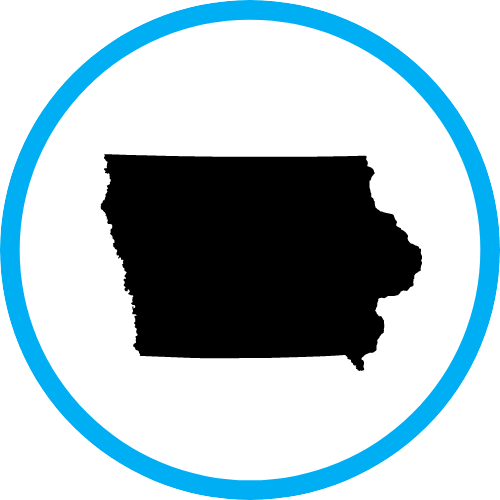 state of iowa borders icon