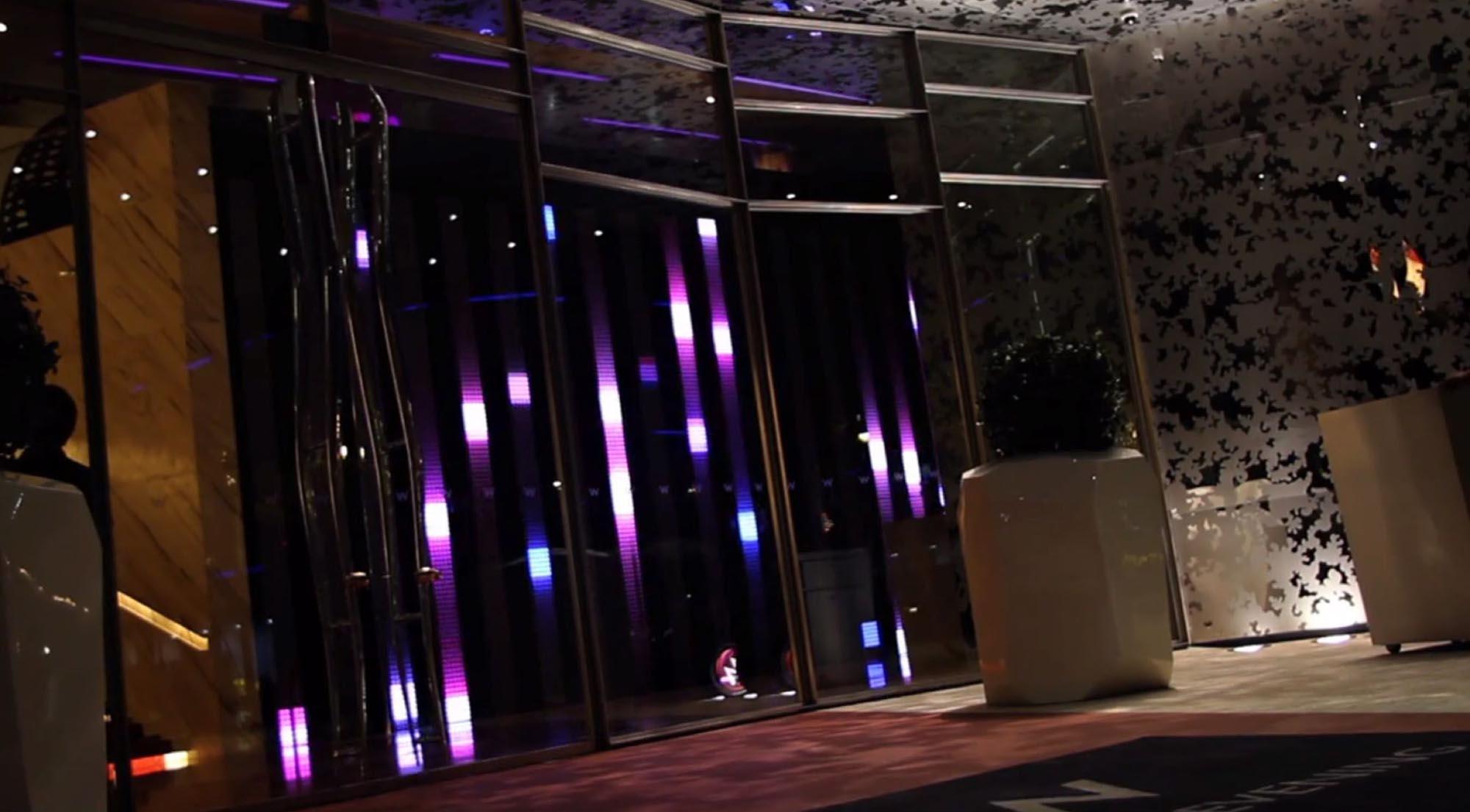 W Hotel Lobby with Spectrum Installation