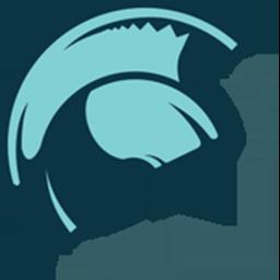 Hele Fitness circular helmet only logo.
