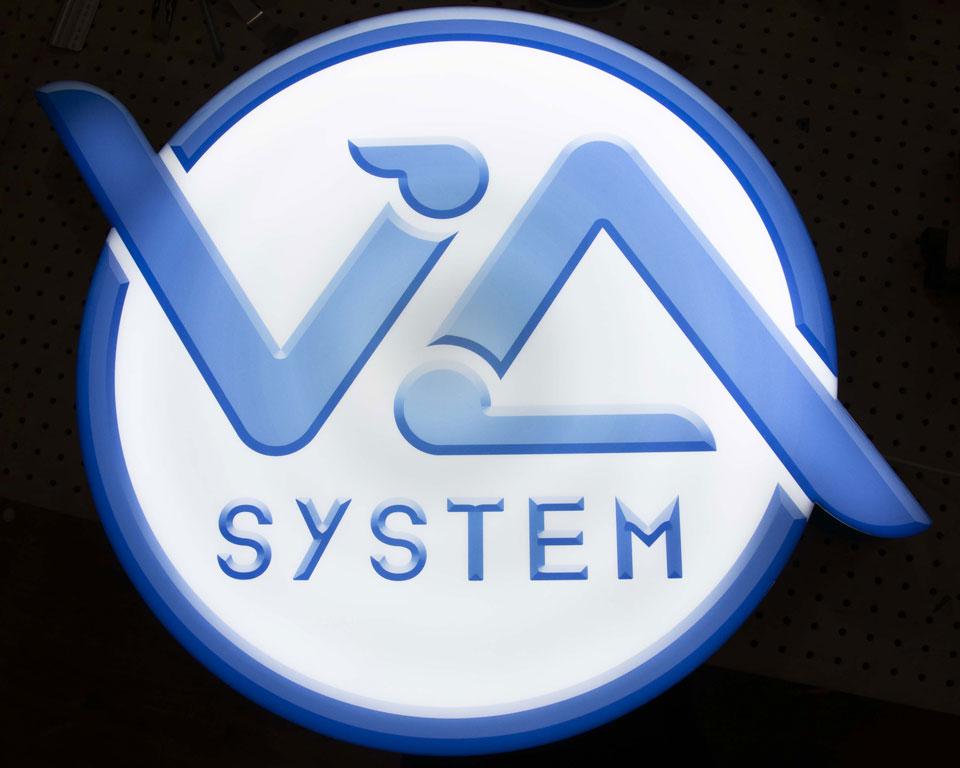 Reklama LED - kaseton odwzorowujący kształt logotypu klienta
