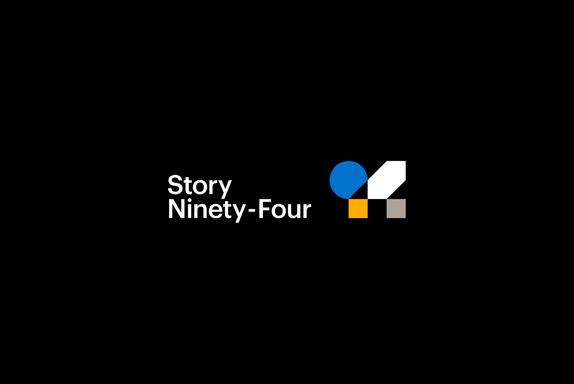 Story Ninety-Four logo on a black background.