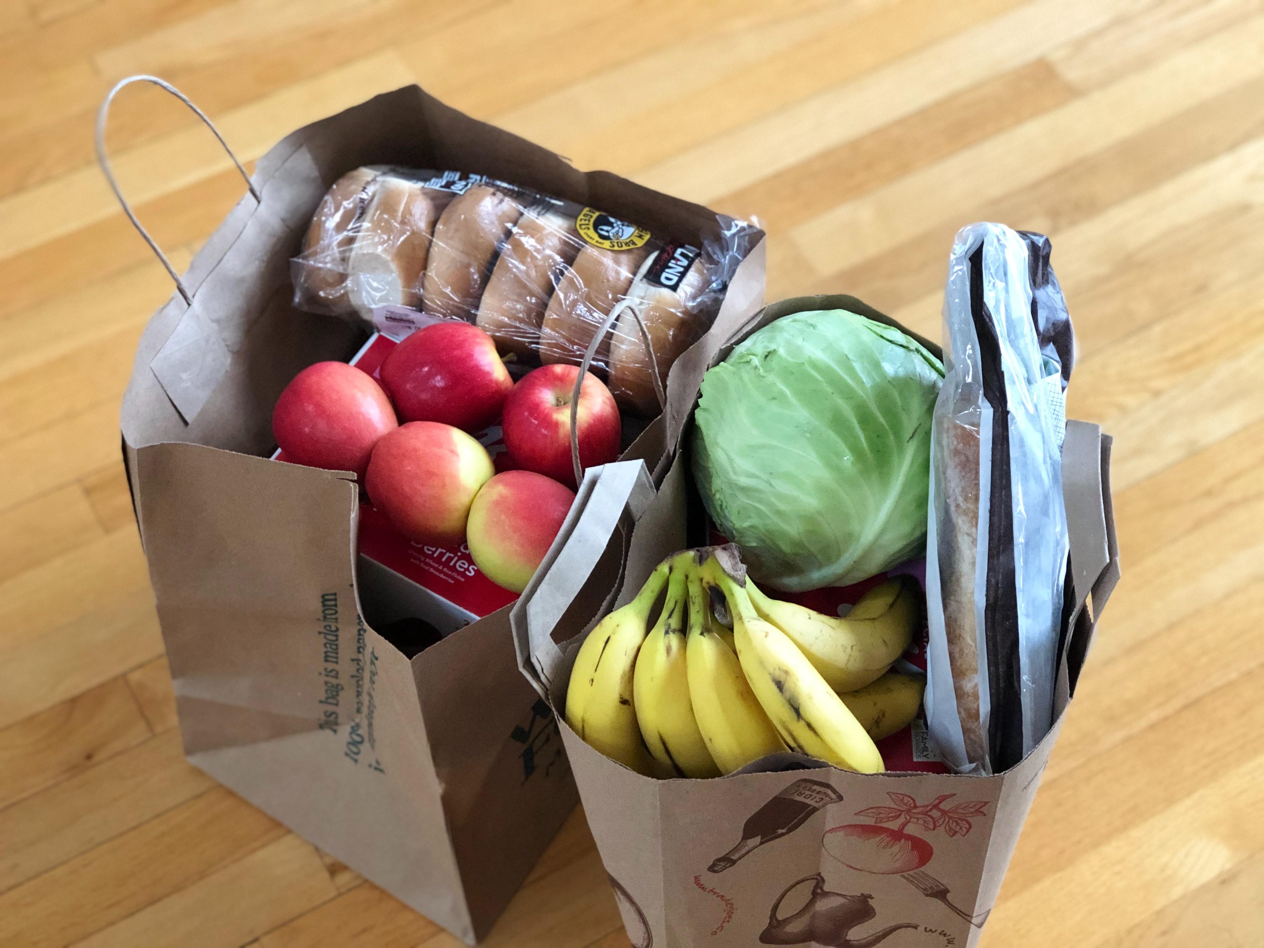 Bags of groceries