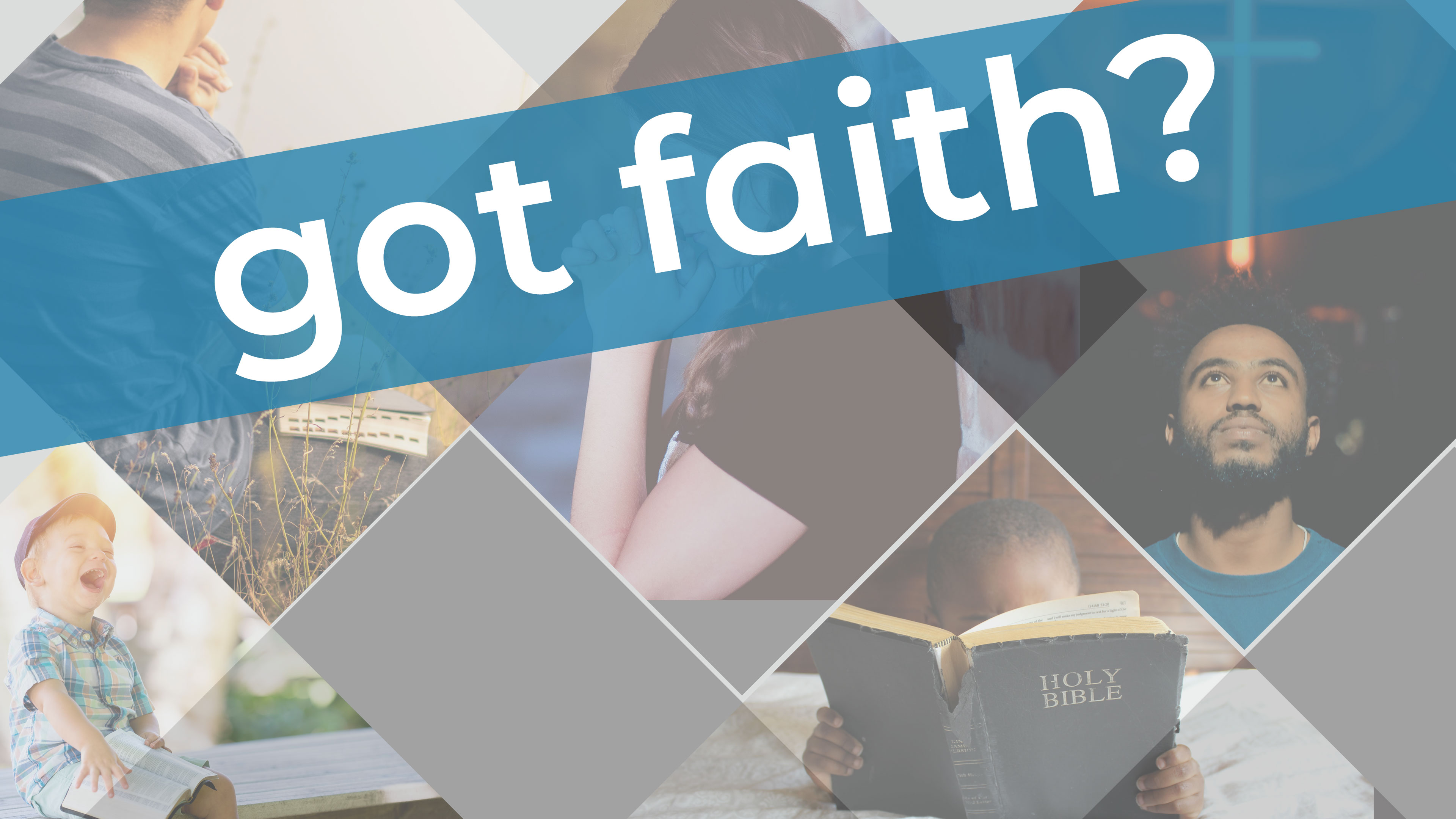 people reading and praying, words saying got faith