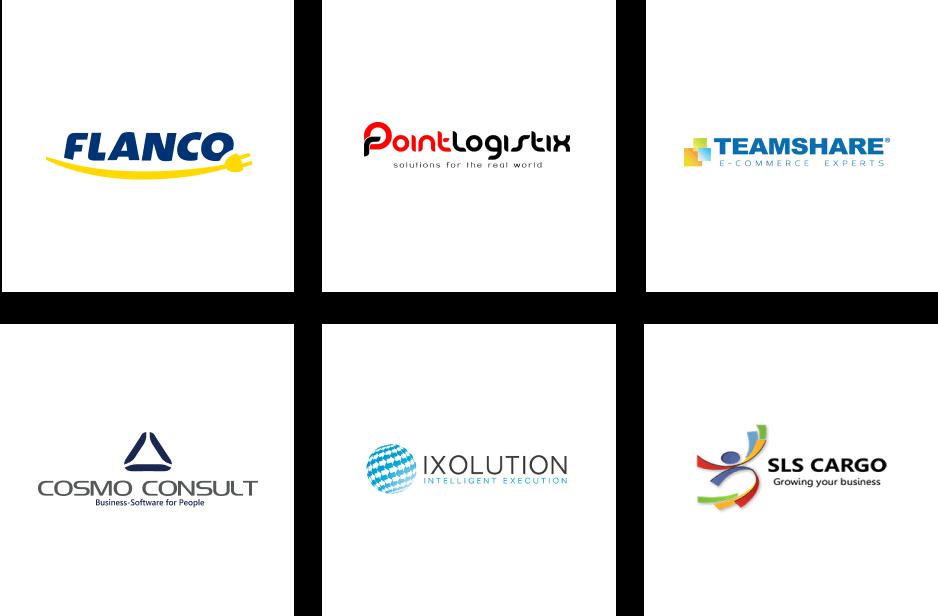partners grid, flanco, point logistics, team share, cosmo consult, ixolution, sls cargo
